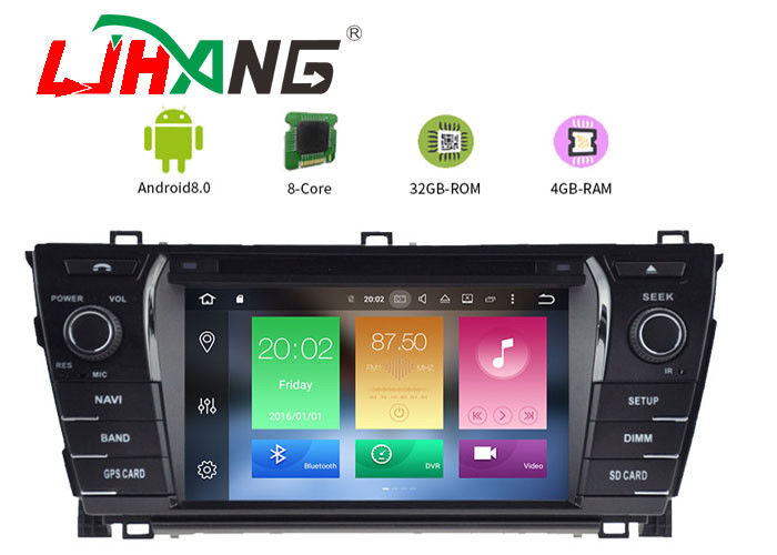 BT Canbus Rear Camera Toyota Corolla Navigation DVD Player 1280*600 Resolution