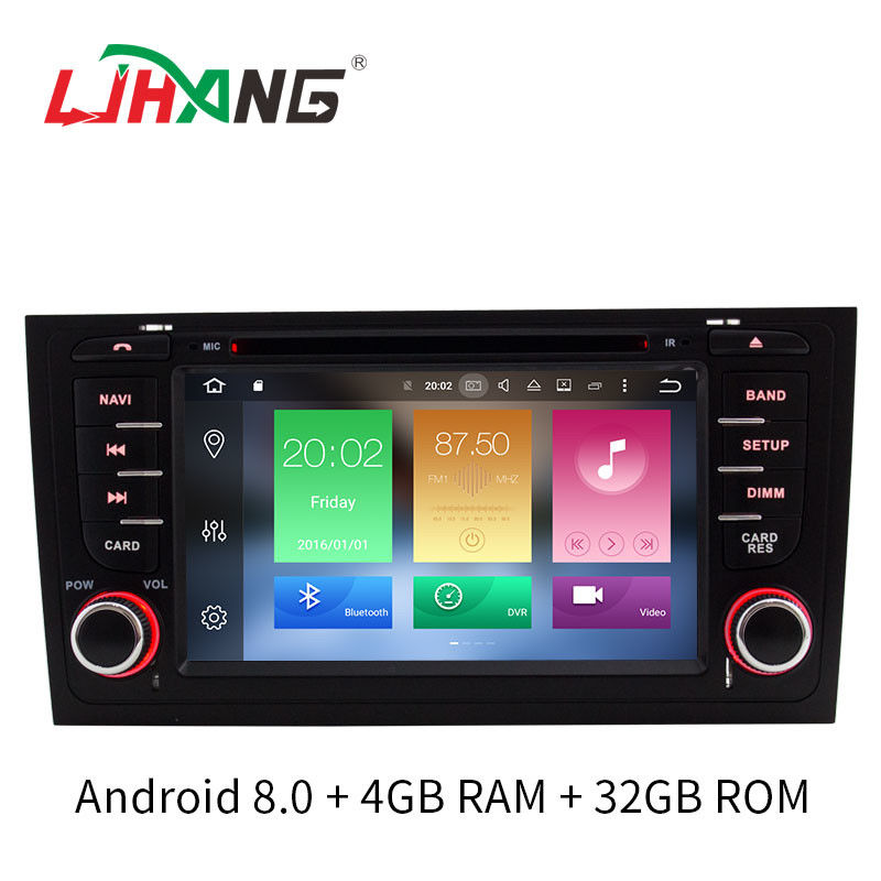Android 8.0 Car Audi Car DVD Player Canbus Gps Rear Camera Stereo For A6